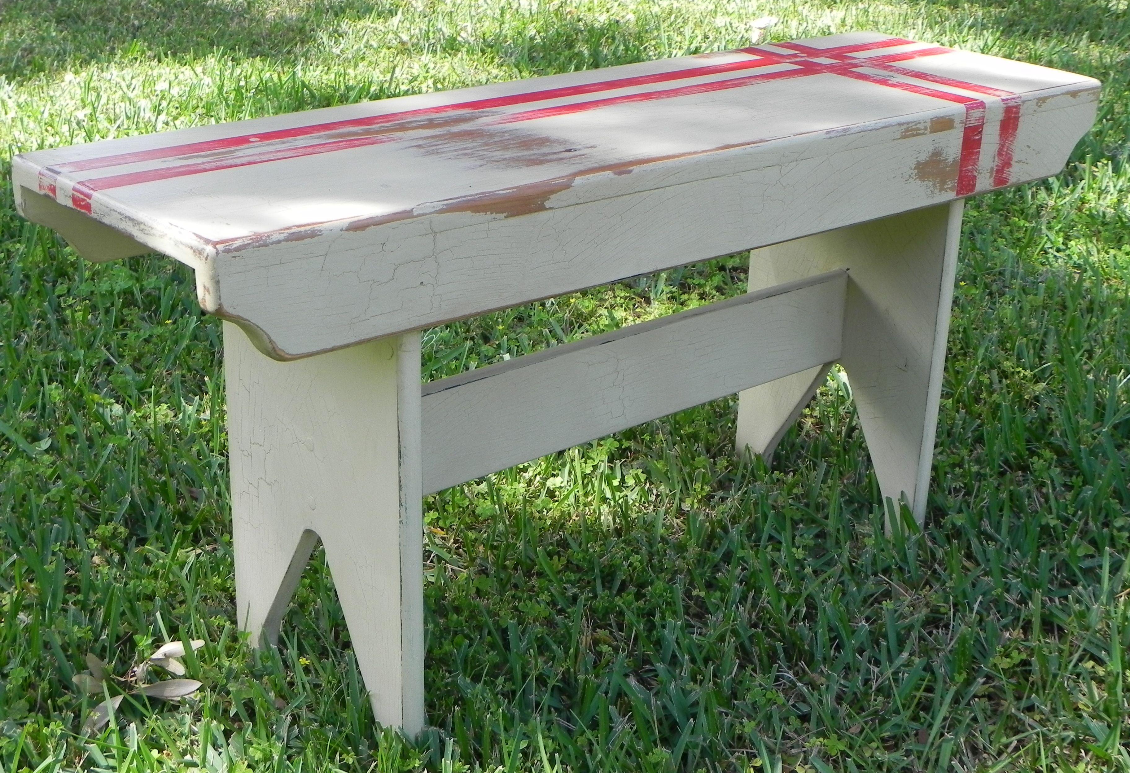 Shaker Style Wooden Bench Diy Pinterest