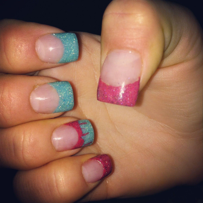 Pink And Blue Acrylic Nails – slybury.com