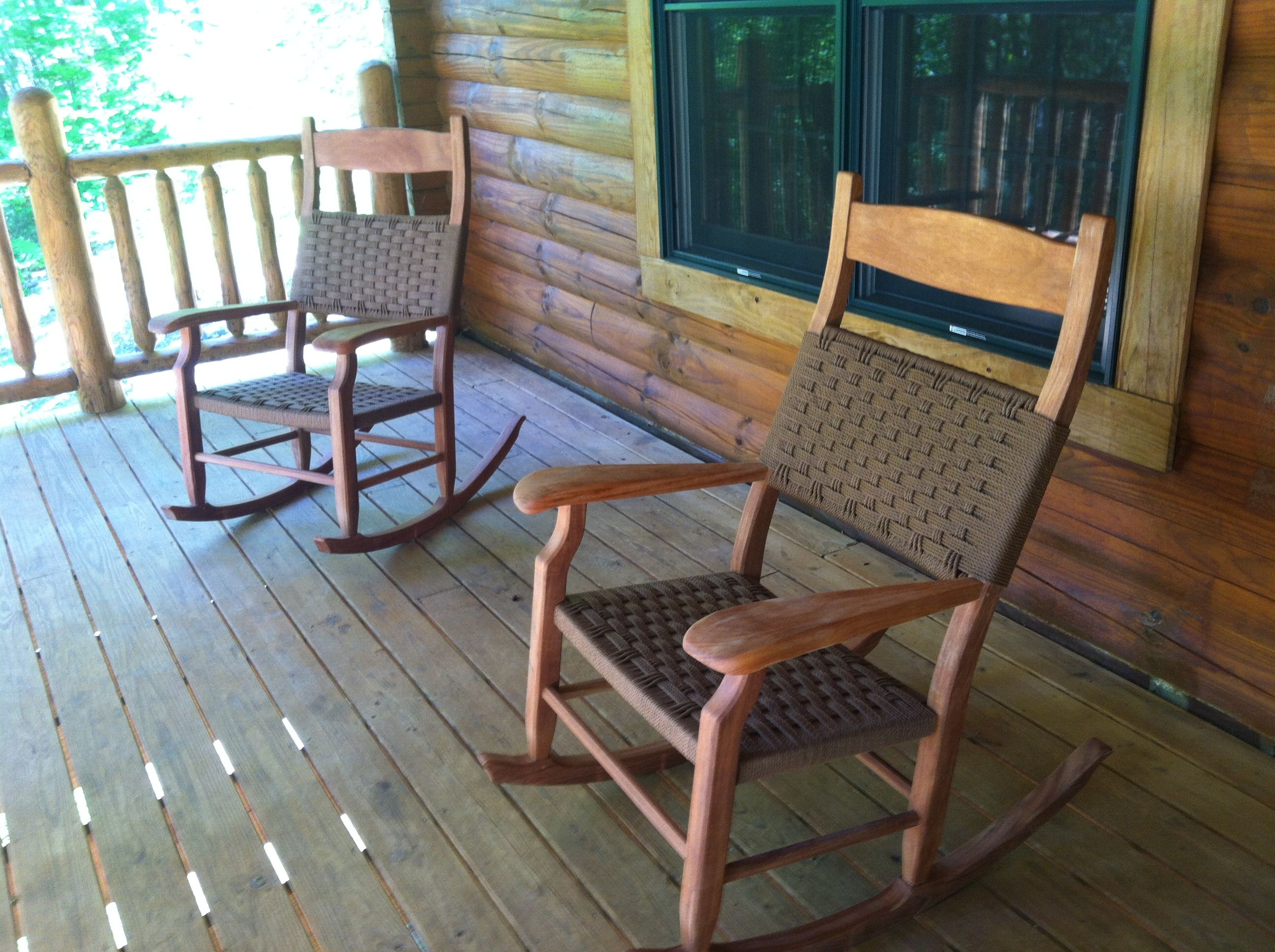 Rocking chairs on front porch Sara s home