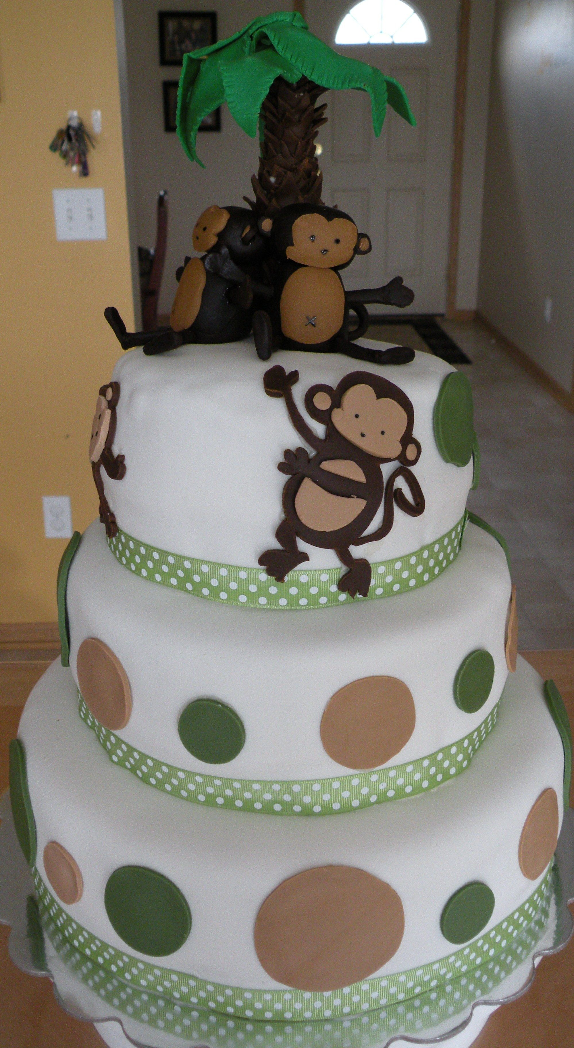 pop monkey baby shower cake baby stuff for leigh pinterest