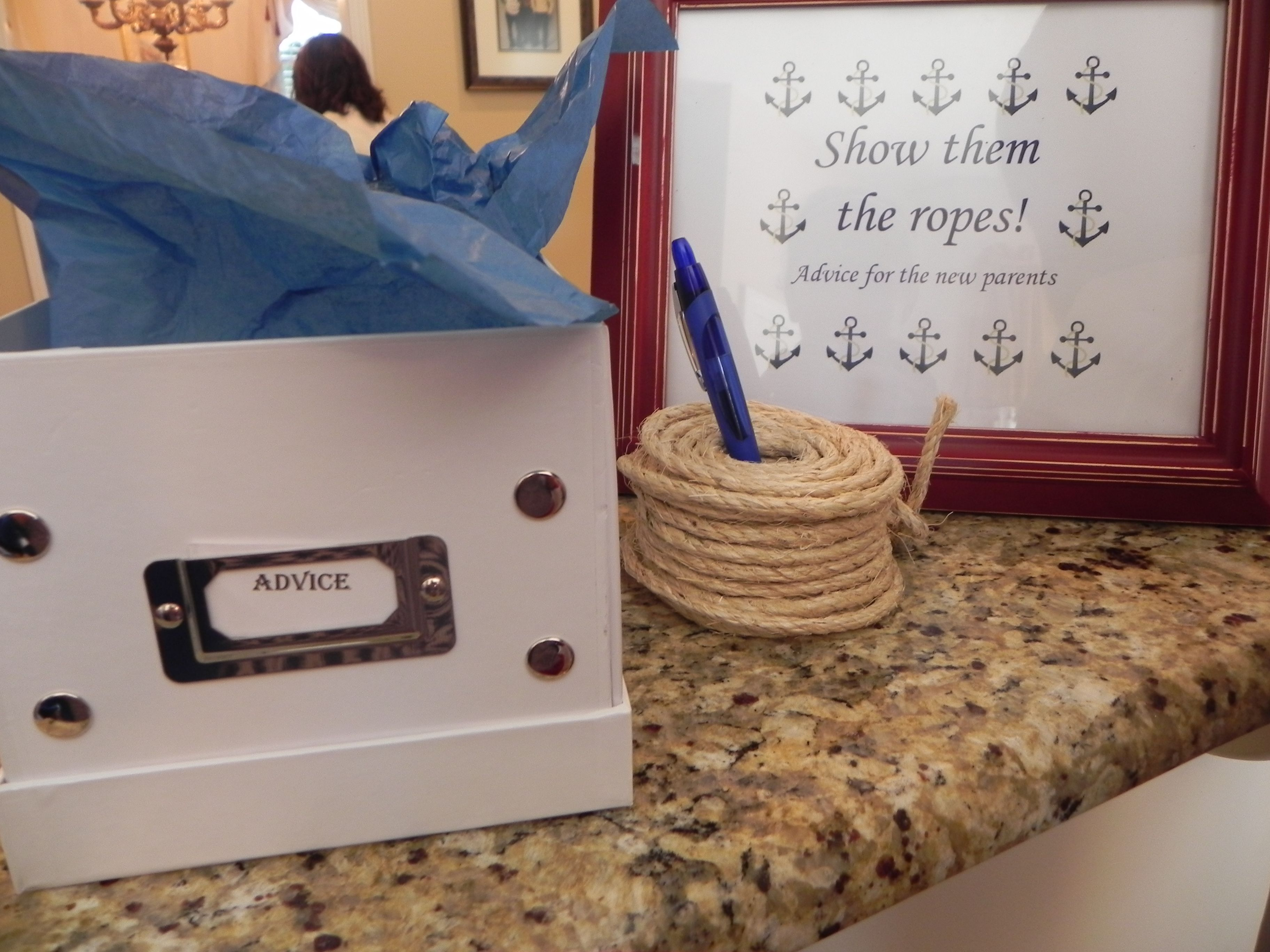 nautical themed baby shower surprise pinterest