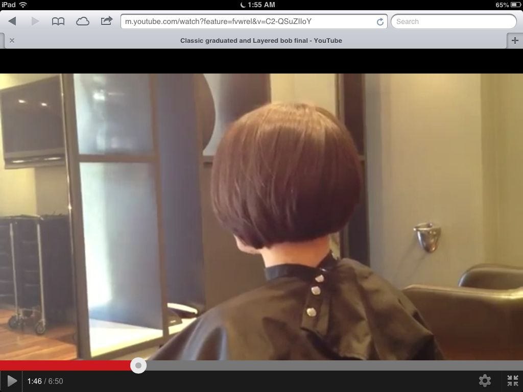 Graduated Layered Bob Hairstyles Back View