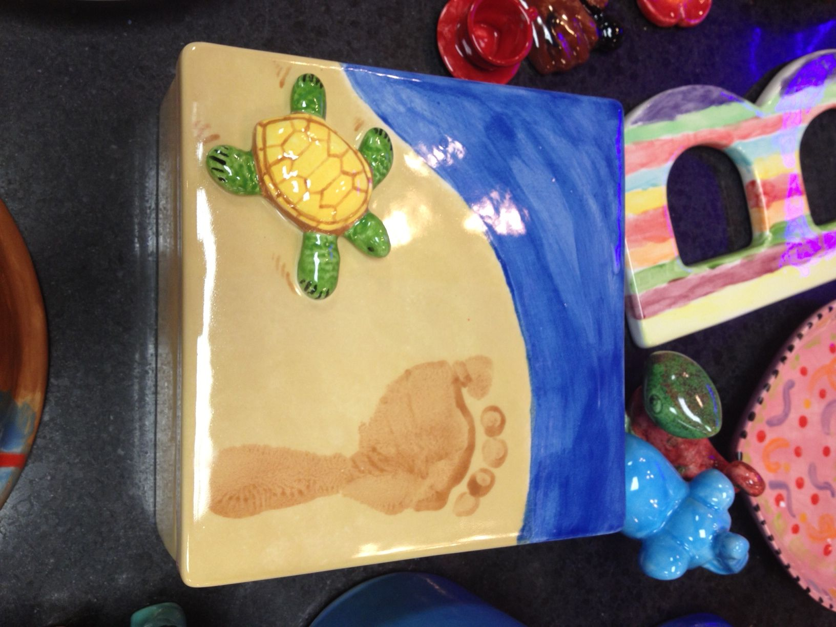 Awesome customer piece from dio creative pottery for Creative pottery painting ideas