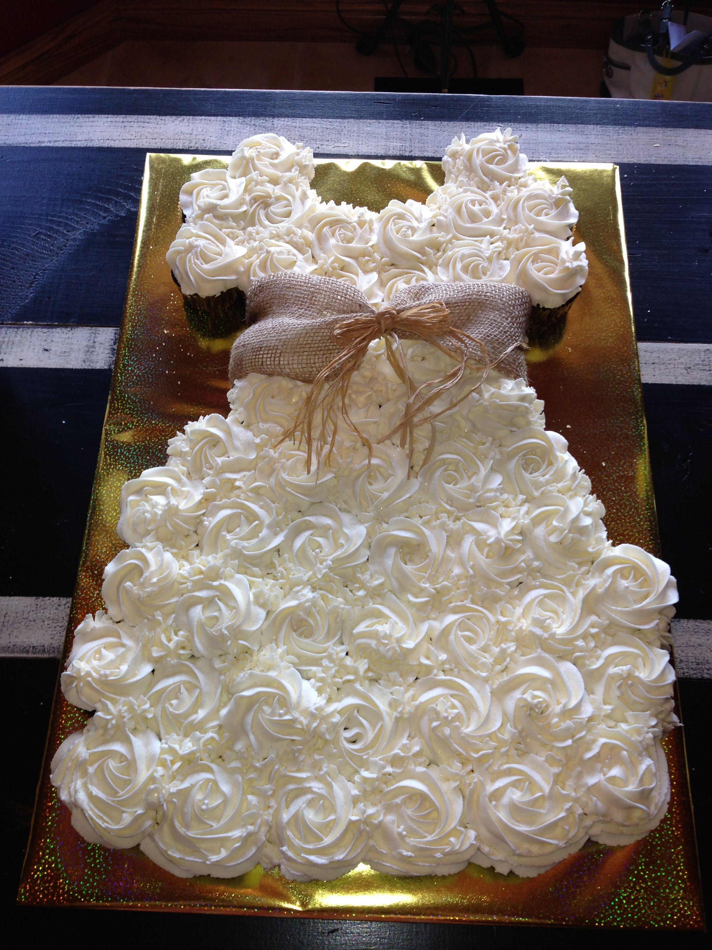 Country bridal shower cupcake dress