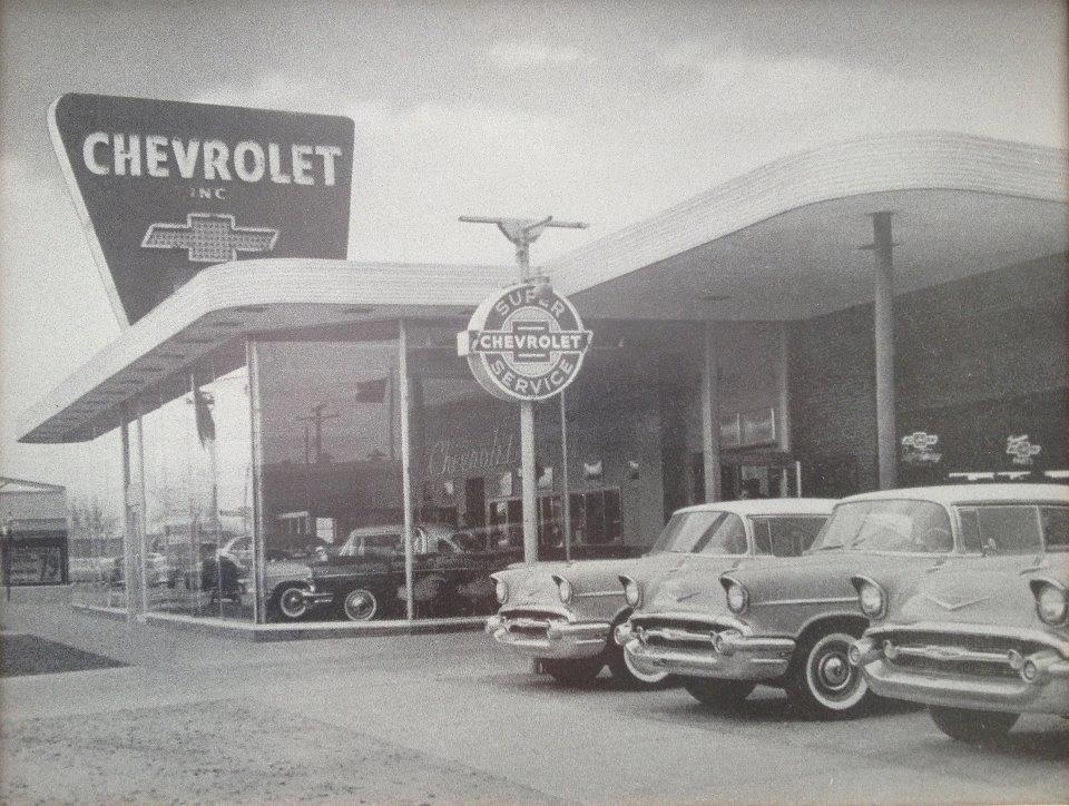Chevy Dealership 1957 Vintage Car Dealers Pinterest