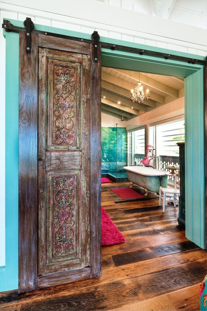 Beach cottage sliding barn doors decor pinterest for Unique beach house decor