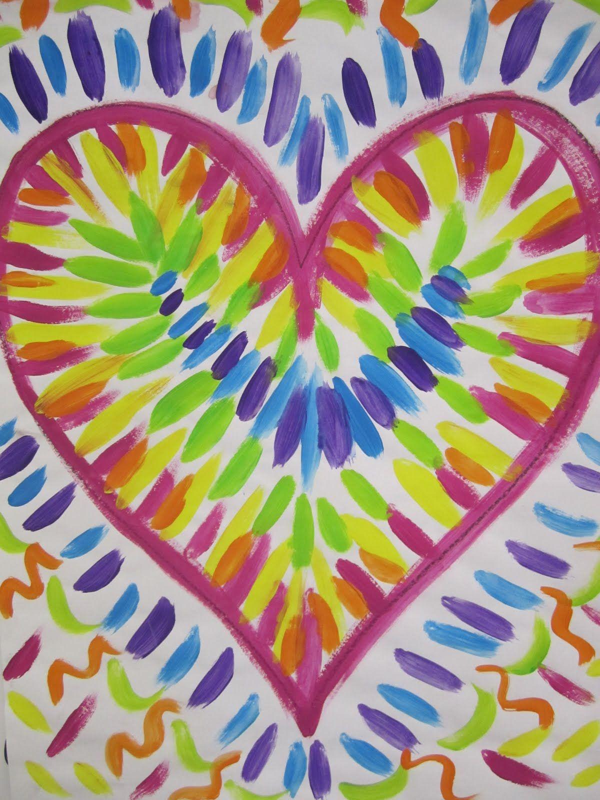 valentine art lesson plans