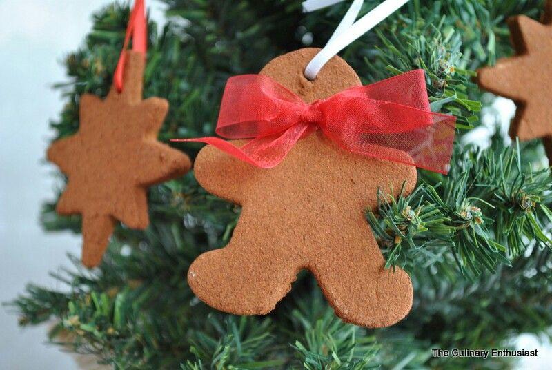 Homemade Christmas Ornaments Dough Cinnamon : Cinnamon applesauce ornament dough christmas