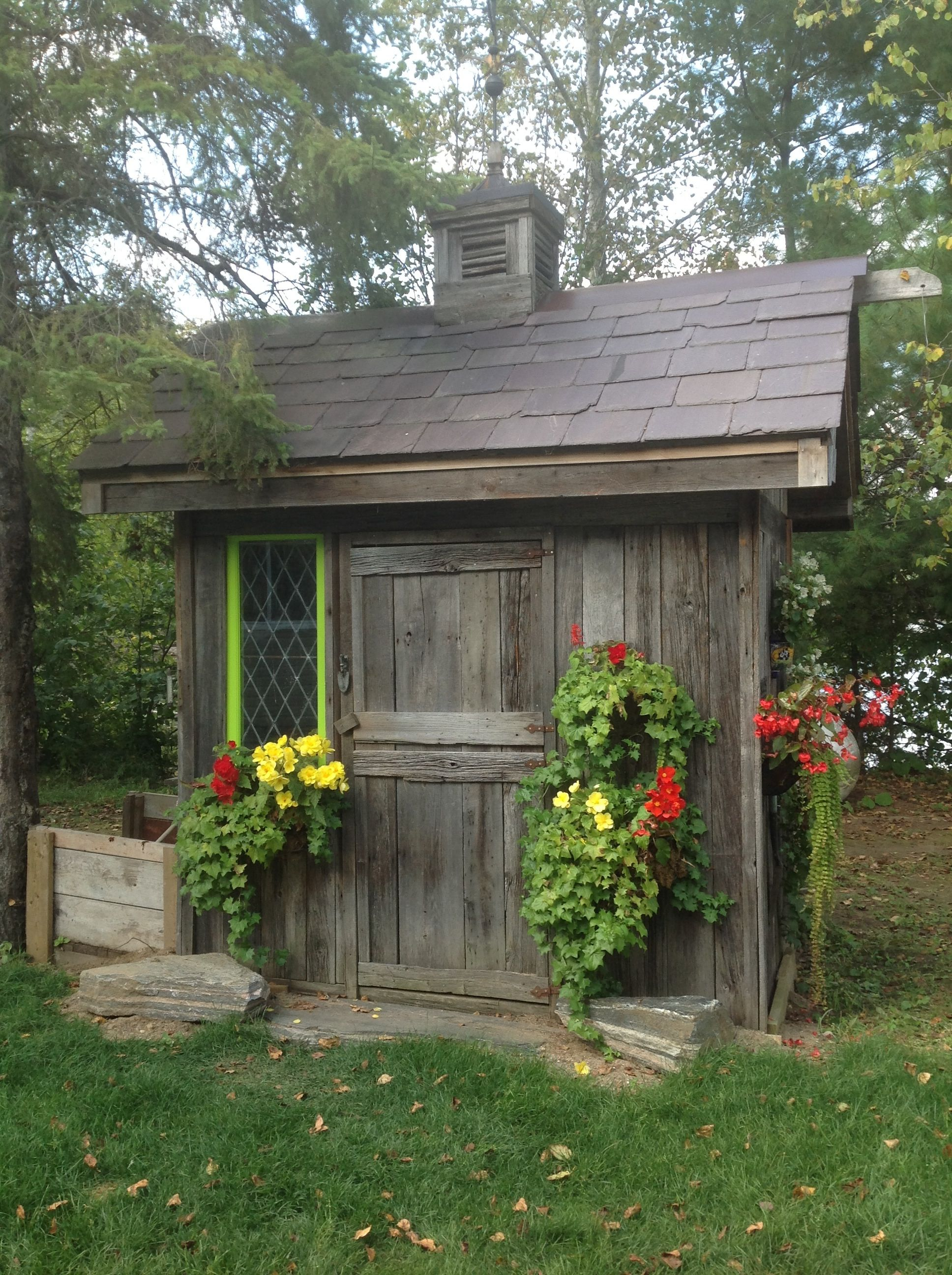 Small rustic garden shed outdoor spaces sheds and for Garden shed small