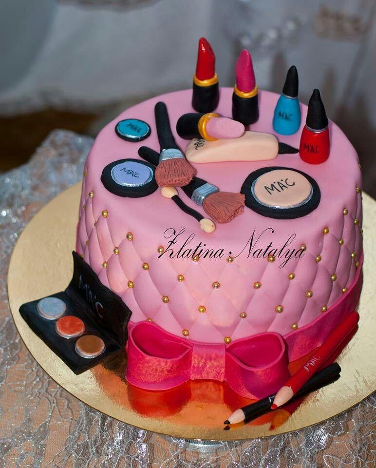 Birthday Cake With Makeup Design : Makeup Birthday Cake. Cake Pinterest