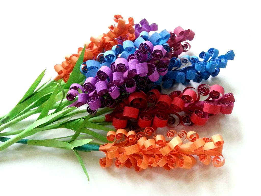 Поделка своими руками букет цветов из бумаги