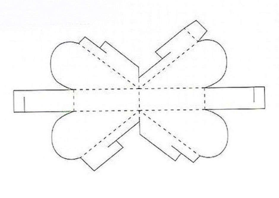 Коробочка сердце из картона своими руками схемы 74