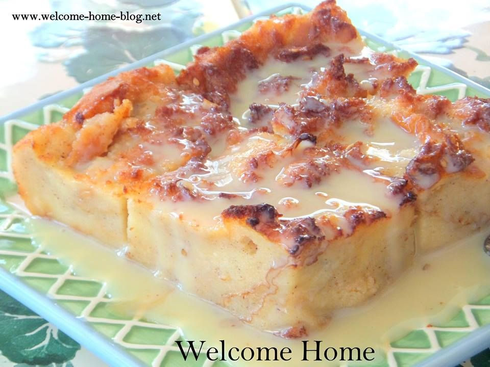 Bread Pudding with vanilla cream sauce | recipes | Pinterest