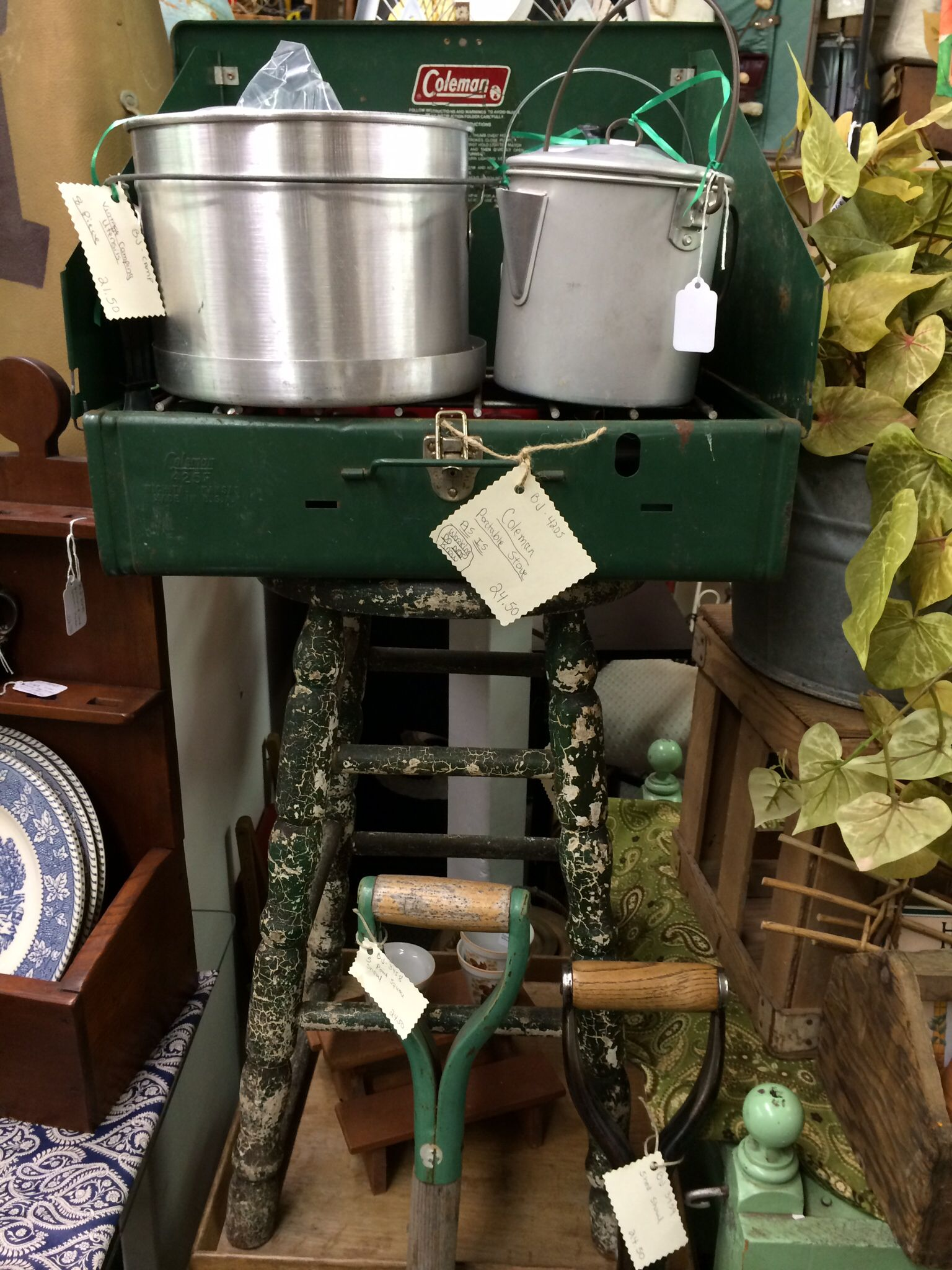 Vintage Camping Gear | Booth Displays at Marketplace ...