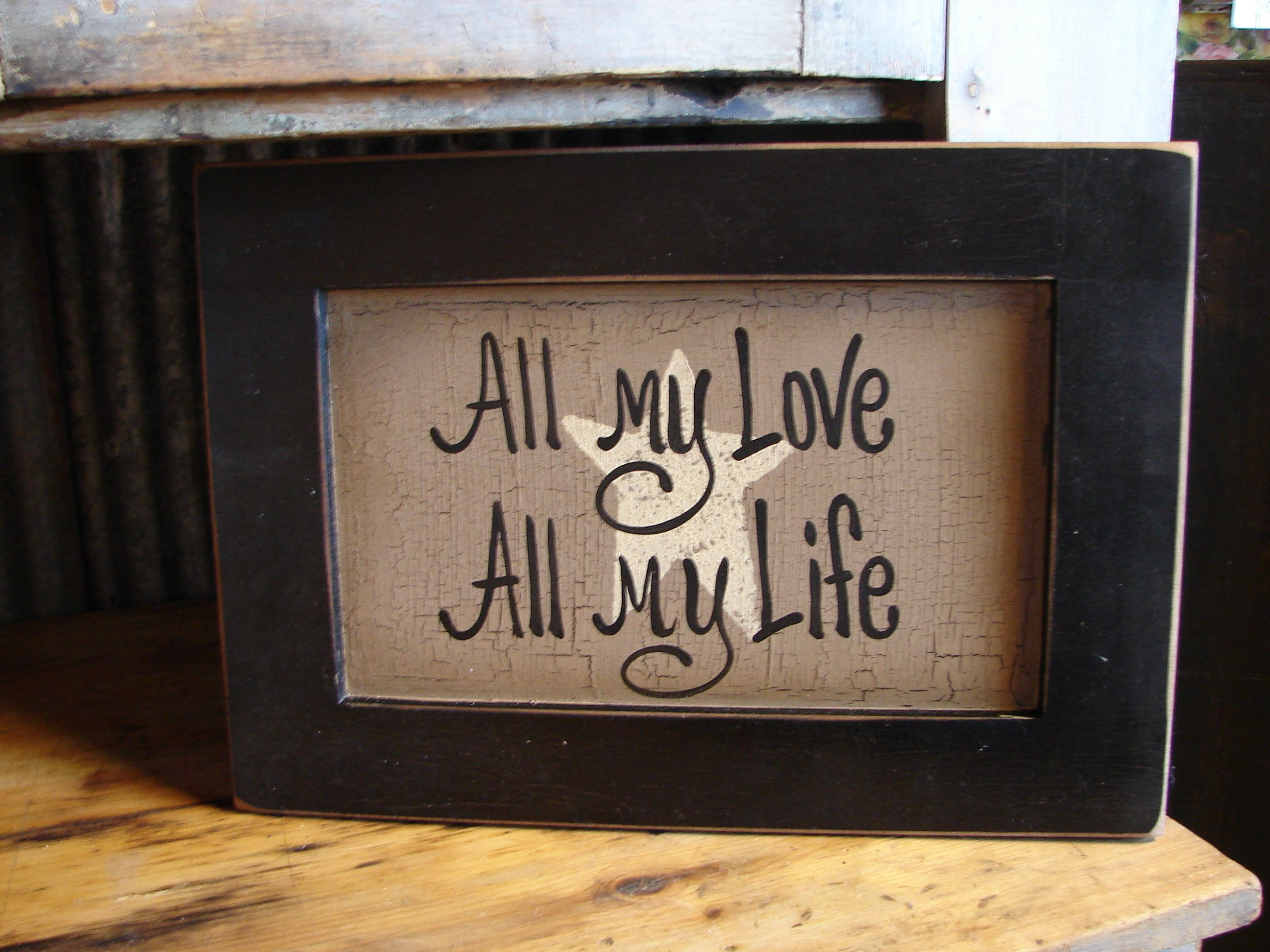 Primitive Wooden Signs Sayings