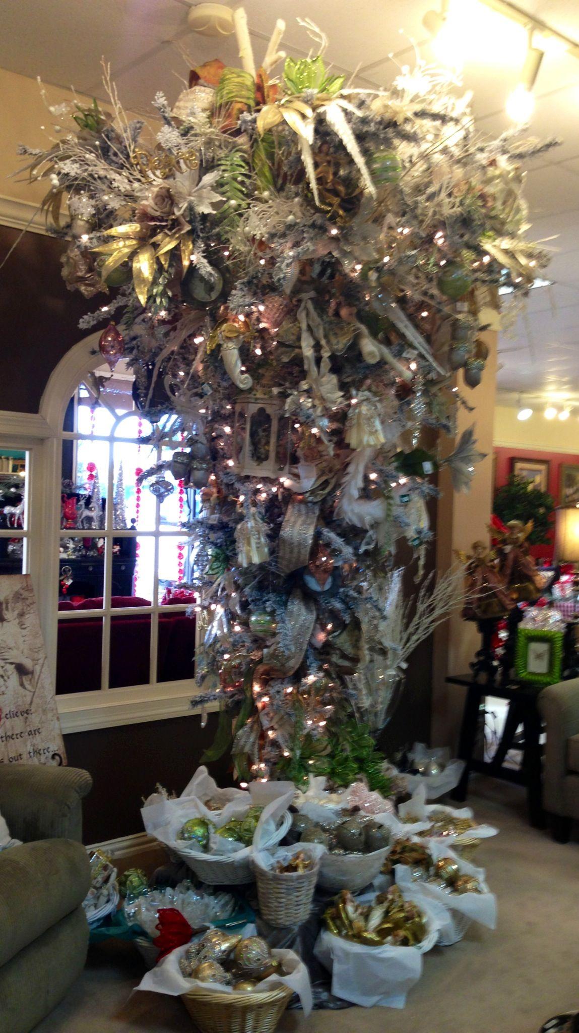 Upside down Christmas tree! | Christmas Trees & Decor | Pinterest