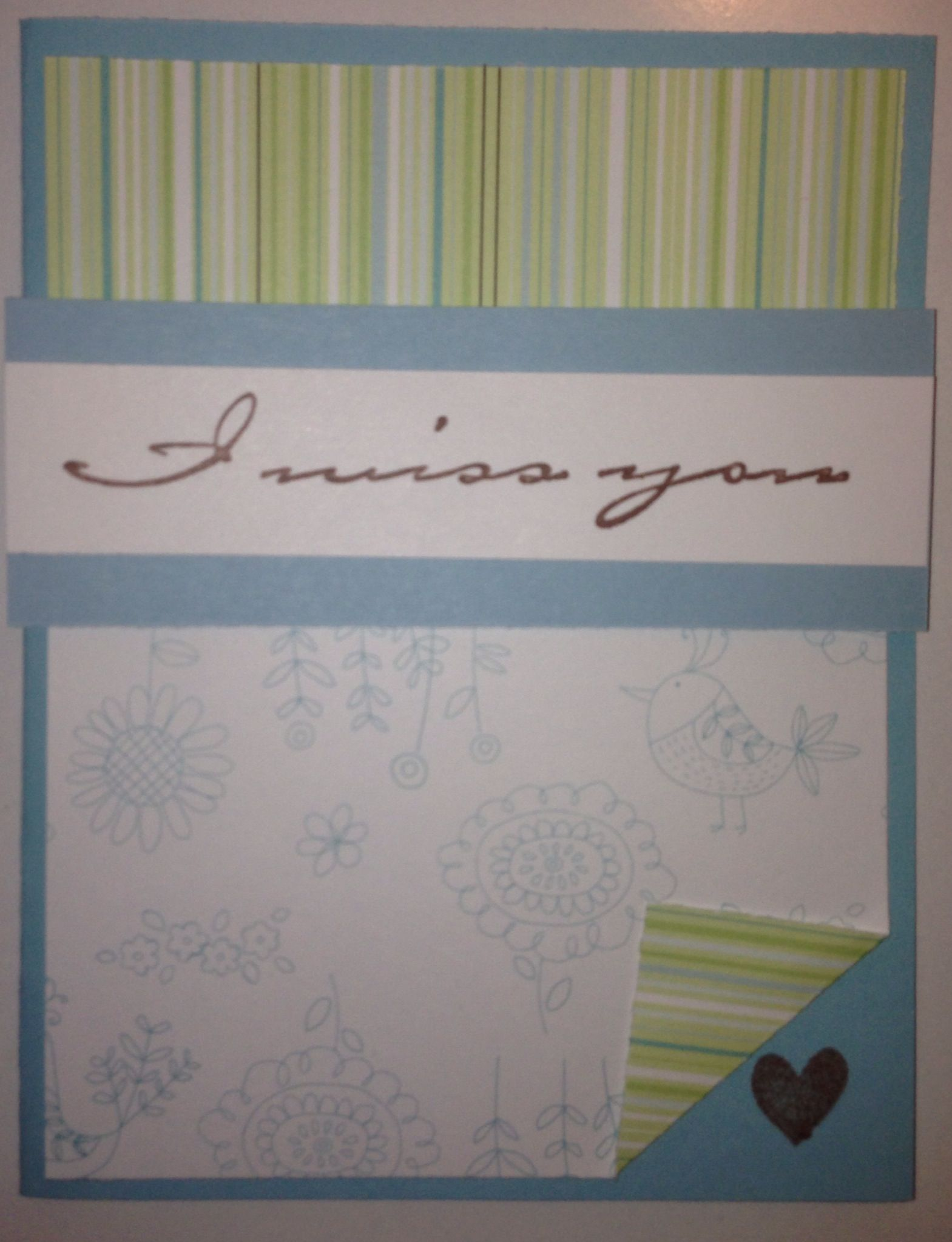 Miss you card | Card Making | Pinterest