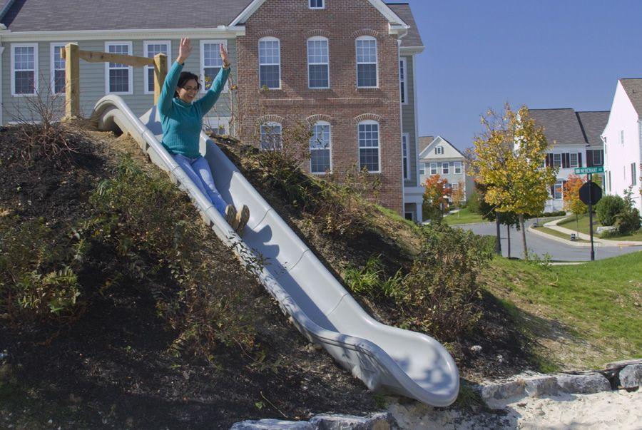 Backyard Hill Slide : hill slide  Natural Playgrounds  Pinterest