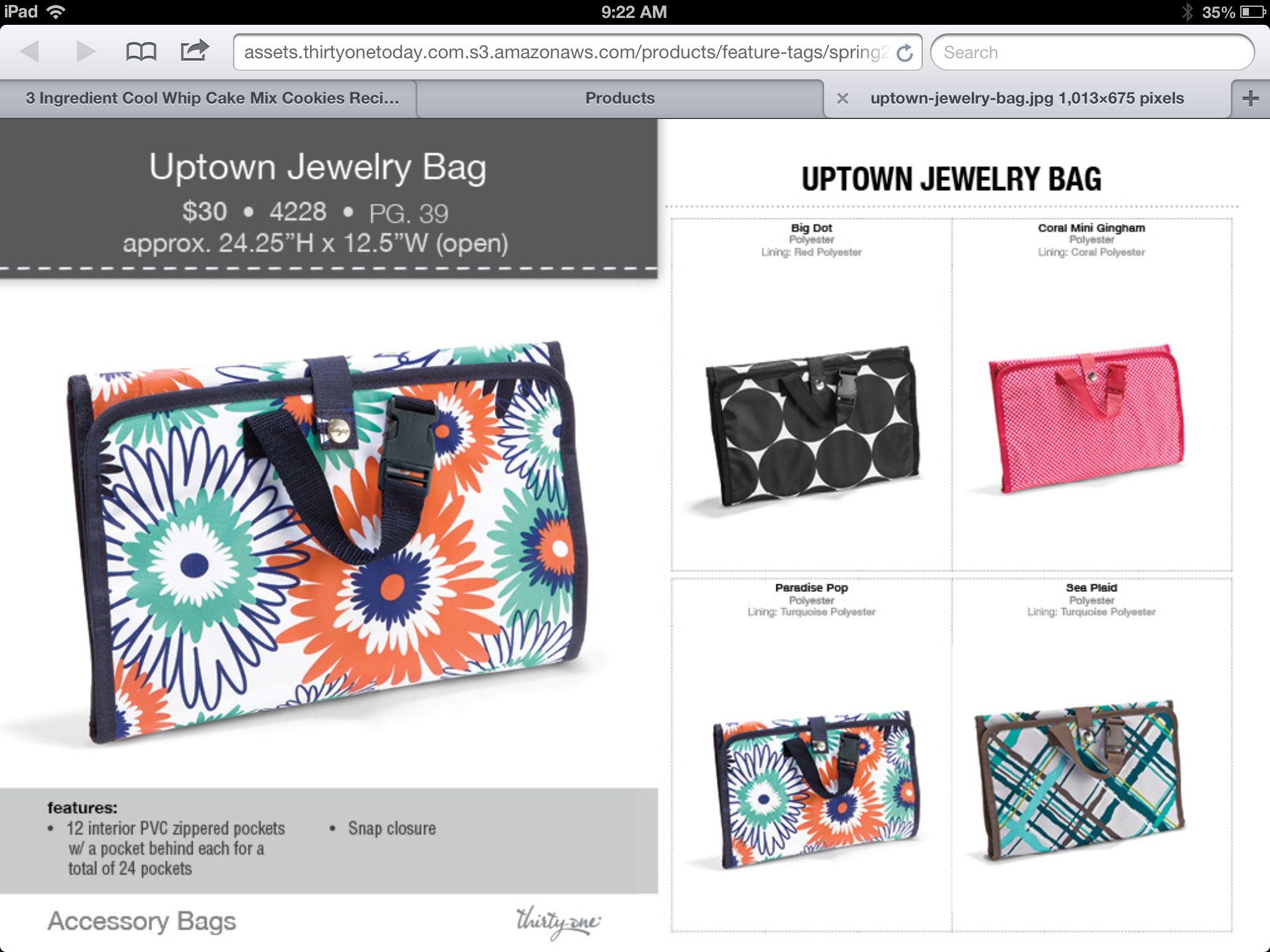 Monogram Tote Bags Uptown Jewelry Bag Thirty One