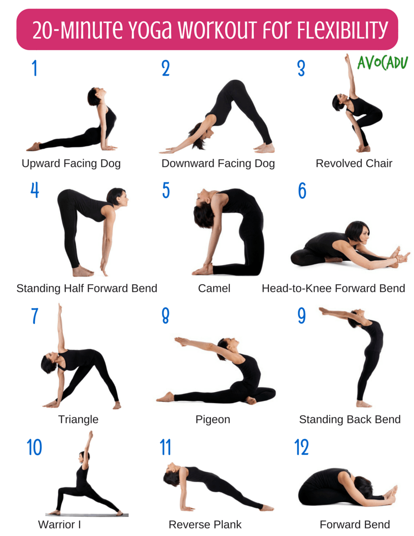 20 Minute Beginner Yoga Workout For Flexibility