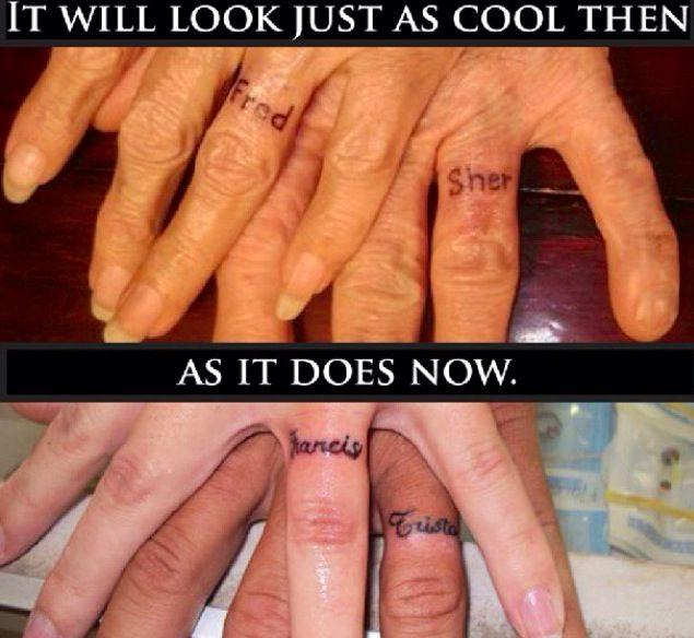 White Ink Wedding Ring Tattoos Jewelry Ideas