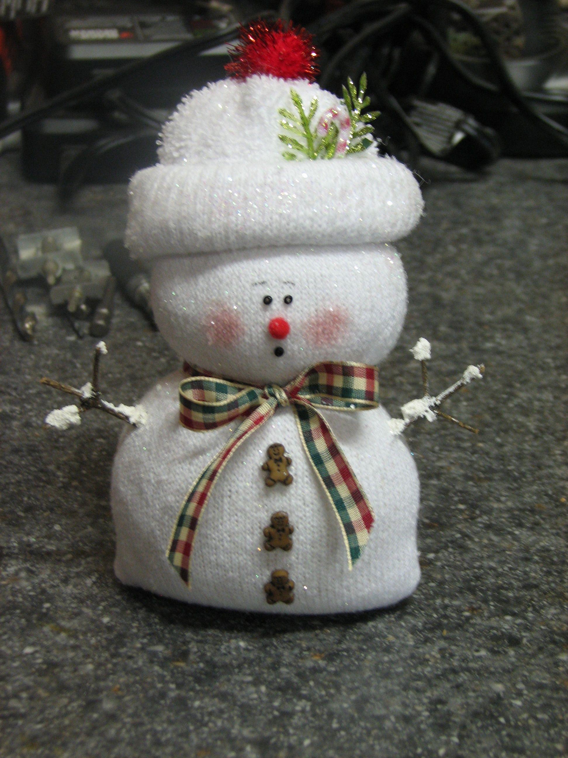 sock snowman christmas crafts pinterest. Black Bedroom Furniture Sets. Home Design Ideas