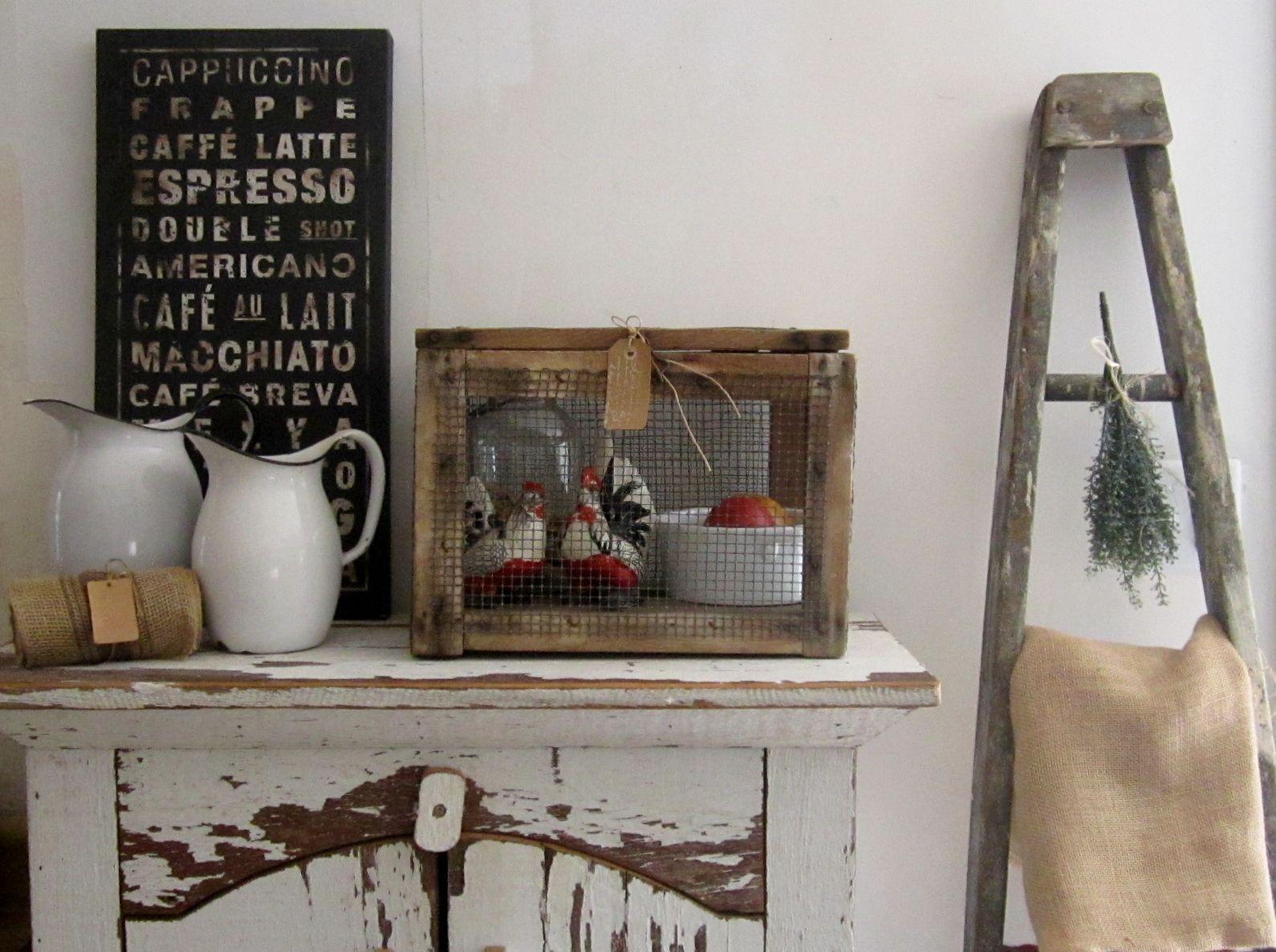 Great Vintage Farmhouse Cage Farmhouse Decor Pinterest