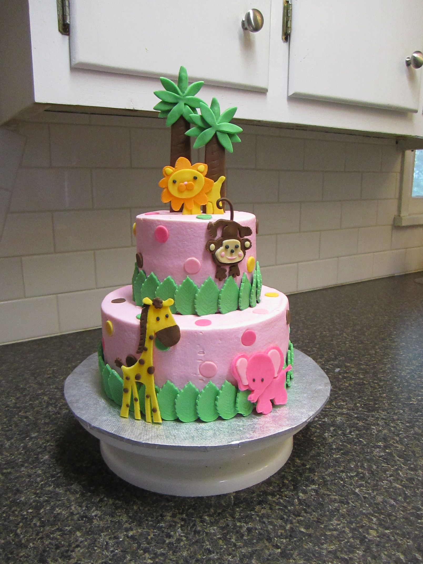 pink safari baby shower cake quotes