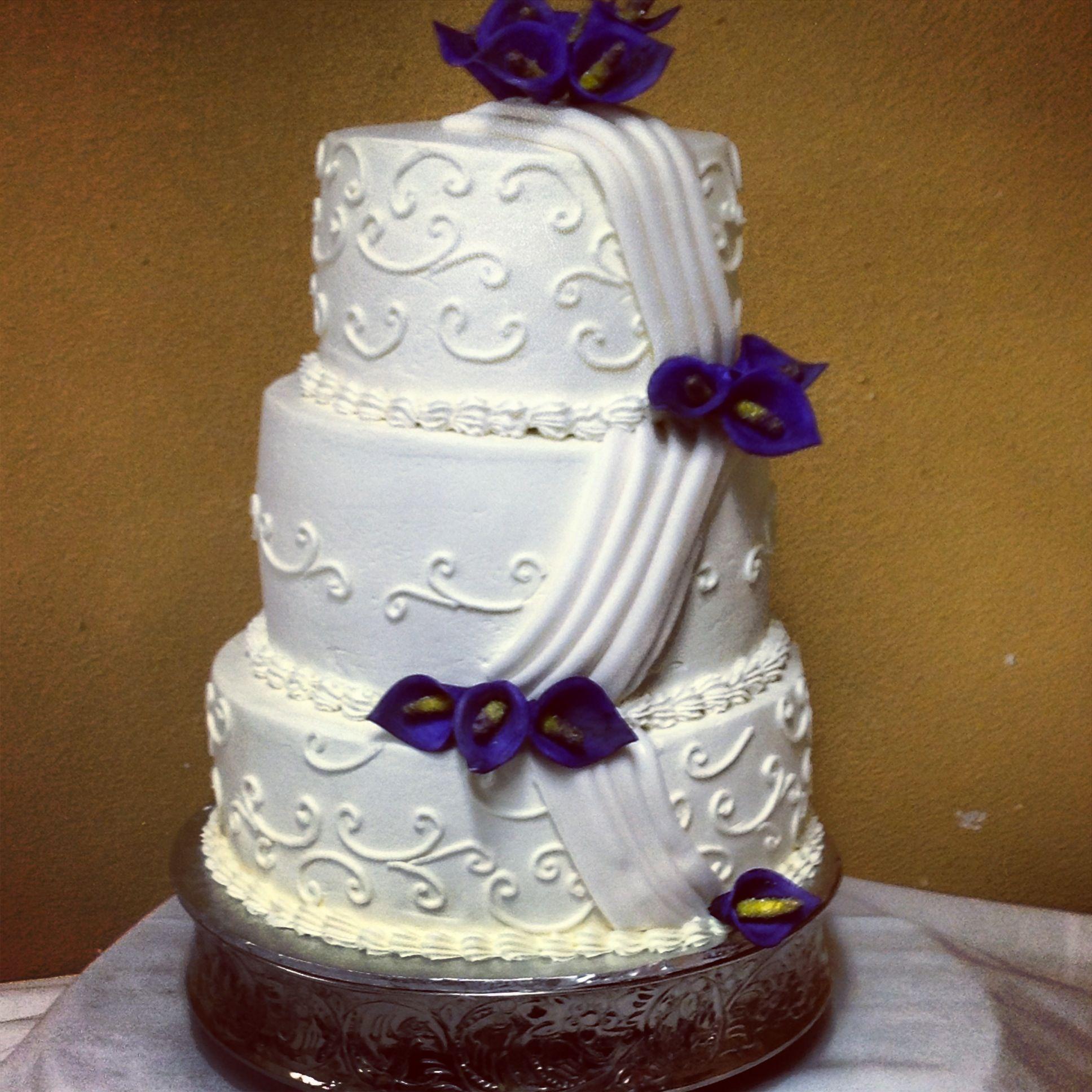 Purple Calla Lilies Wedding Cake Cynthia