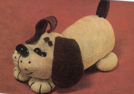 Собачка из носка