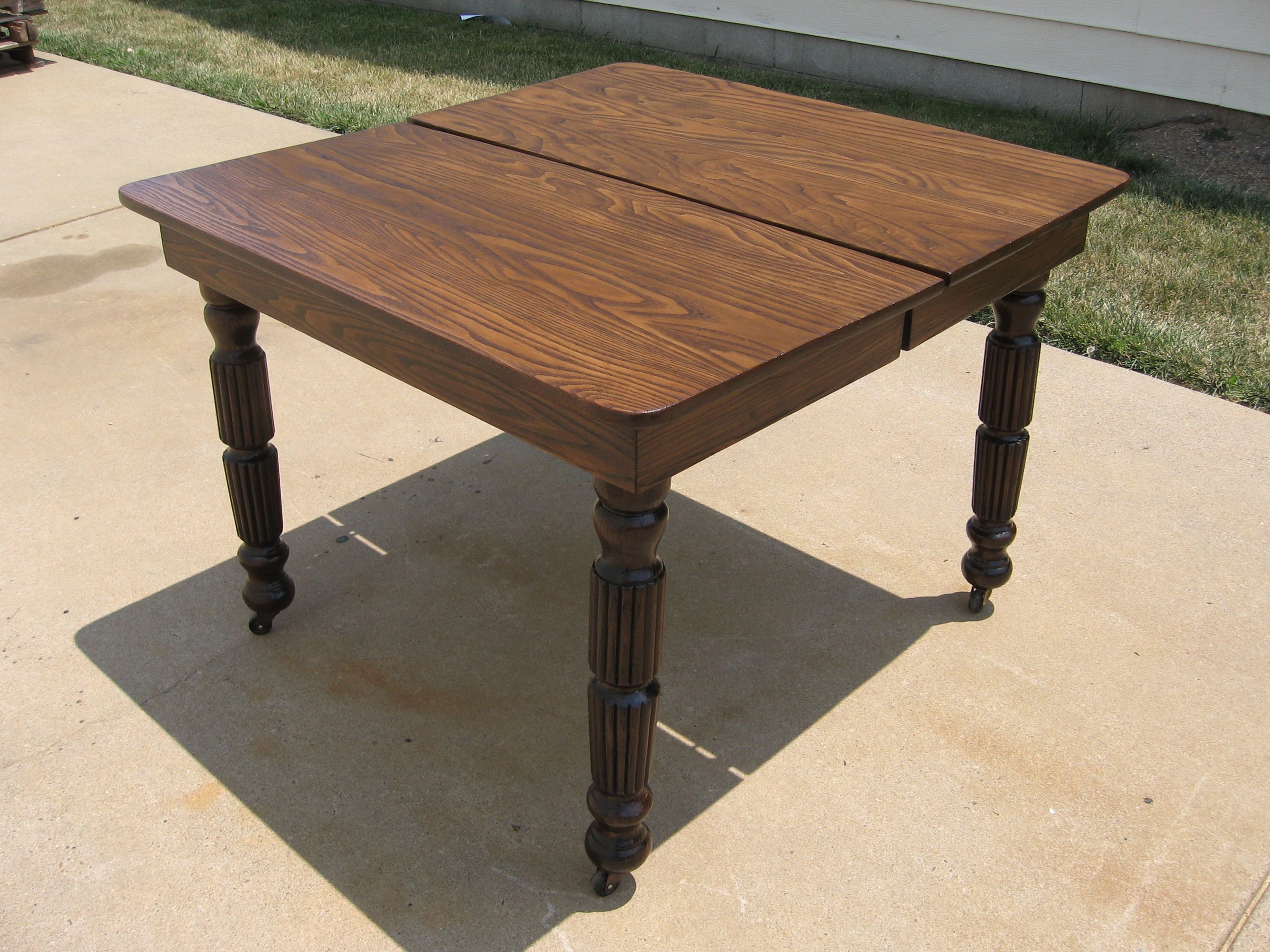 Dining Table Oak Dining Table Refinish