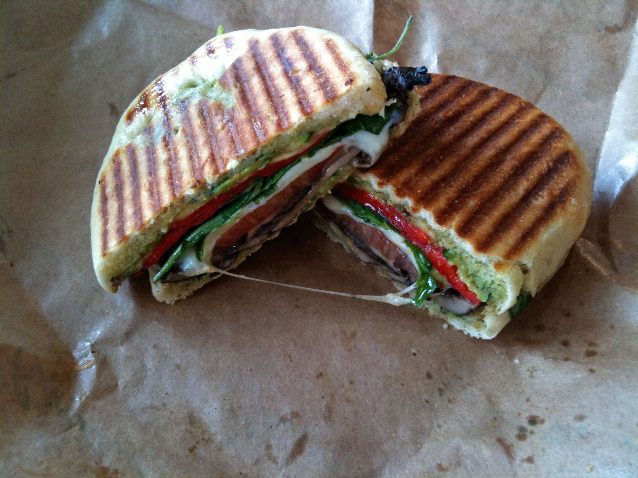 Grilled Veggie Panini | Get in my Belly | Pinterest