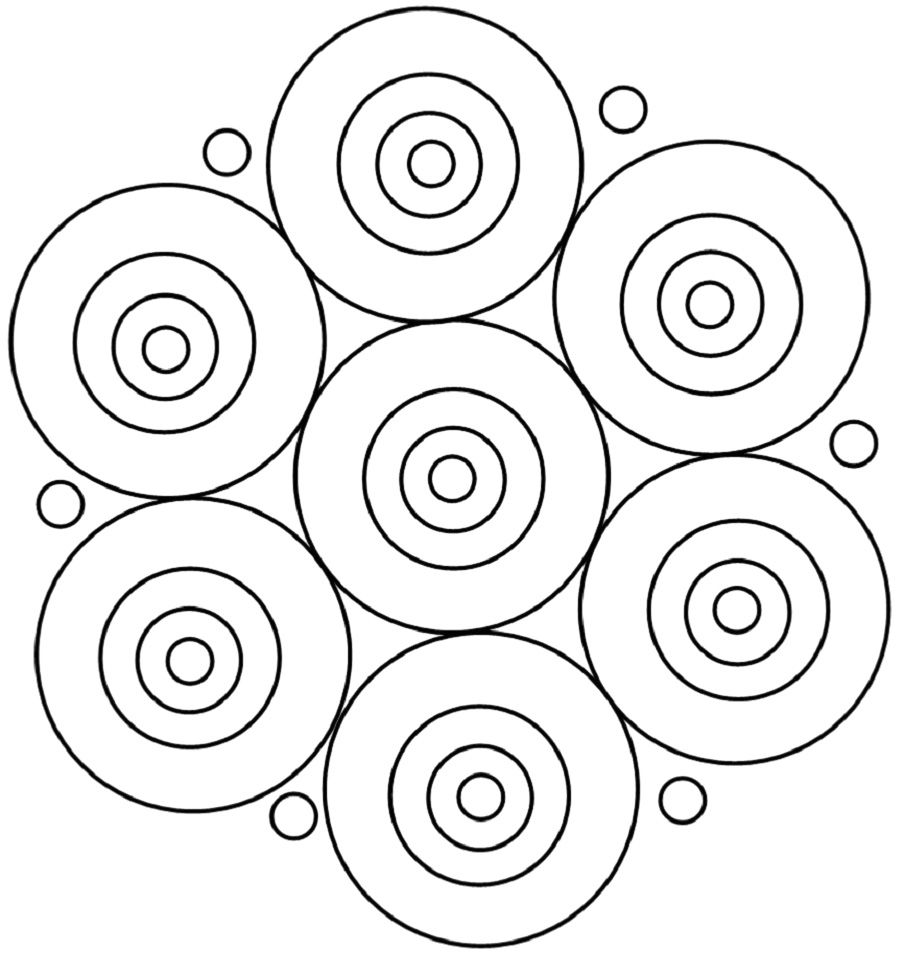 Pattern A Round Mandala Coloring Pages