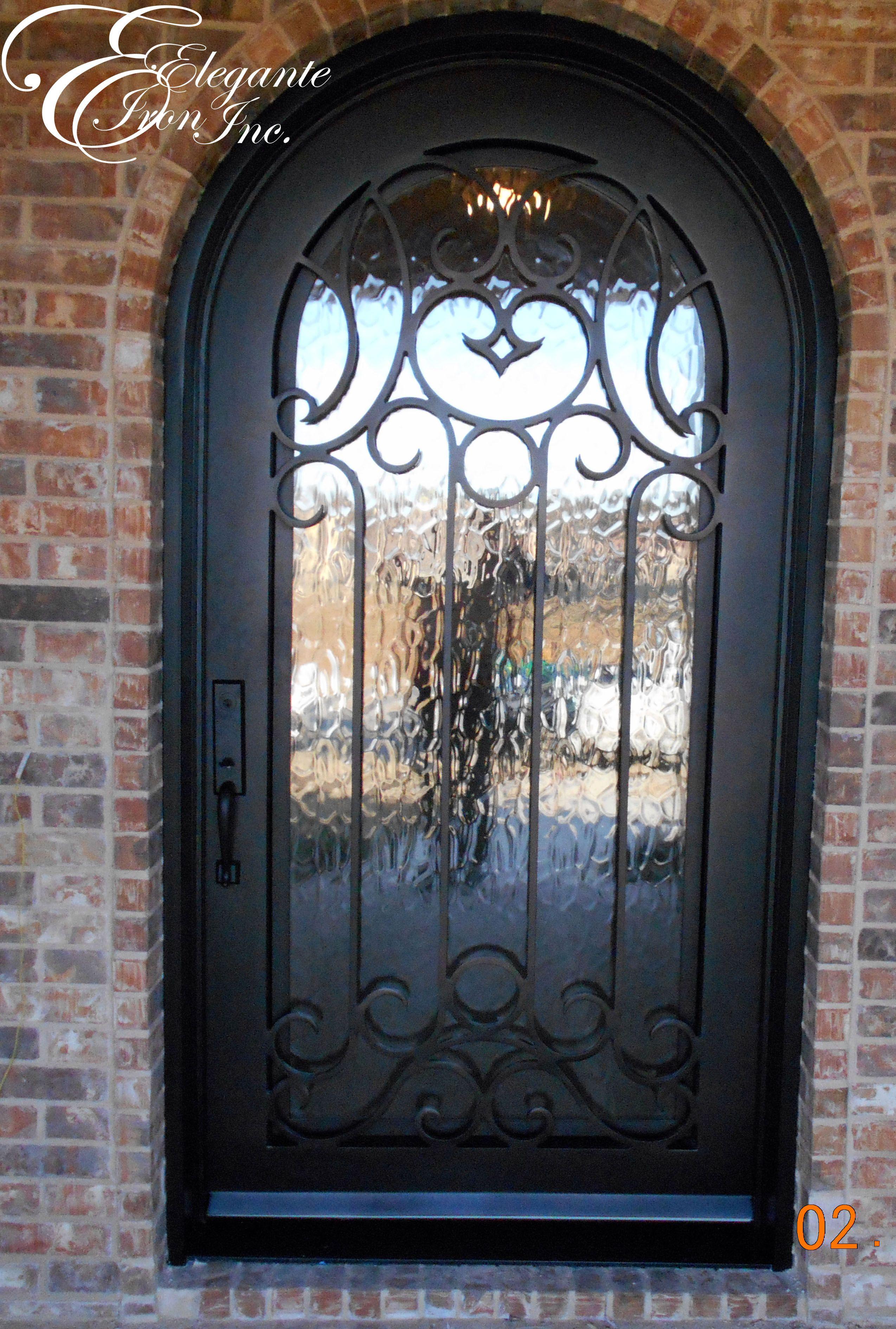 3780 #6D4832 Custom Wrought Iron Front Door. Single Doors Pinterest picture/photo Rod Iron Front Doors 43092549