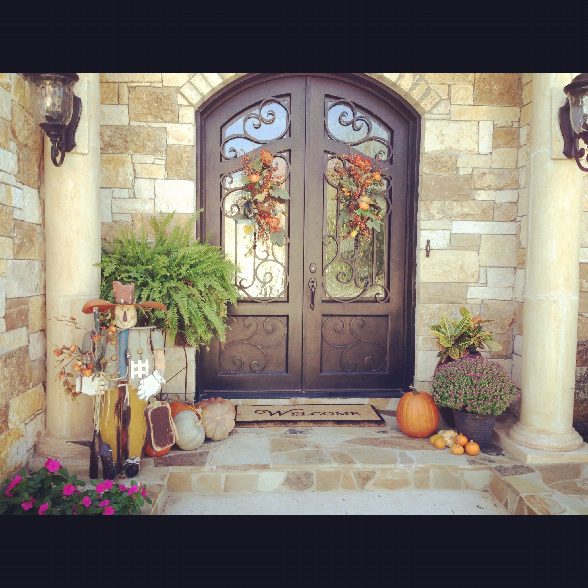 Fall Front Porch Holiday Designs Crafts Pinterest