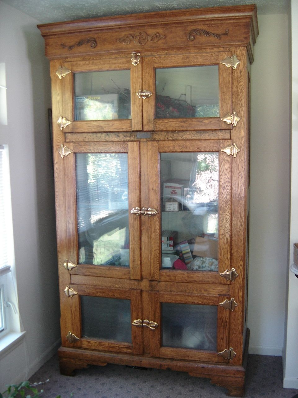 Antique Ice Box from old store  Vintage  Pinterest
