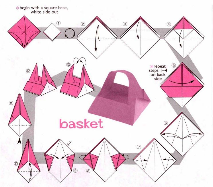 origami paper basket 28 images unpinning for march