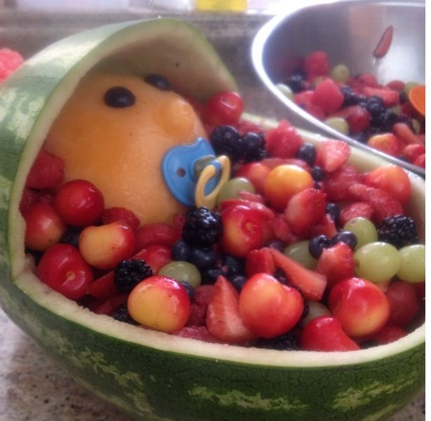 baby shower fruit bowl babyshower pinterest