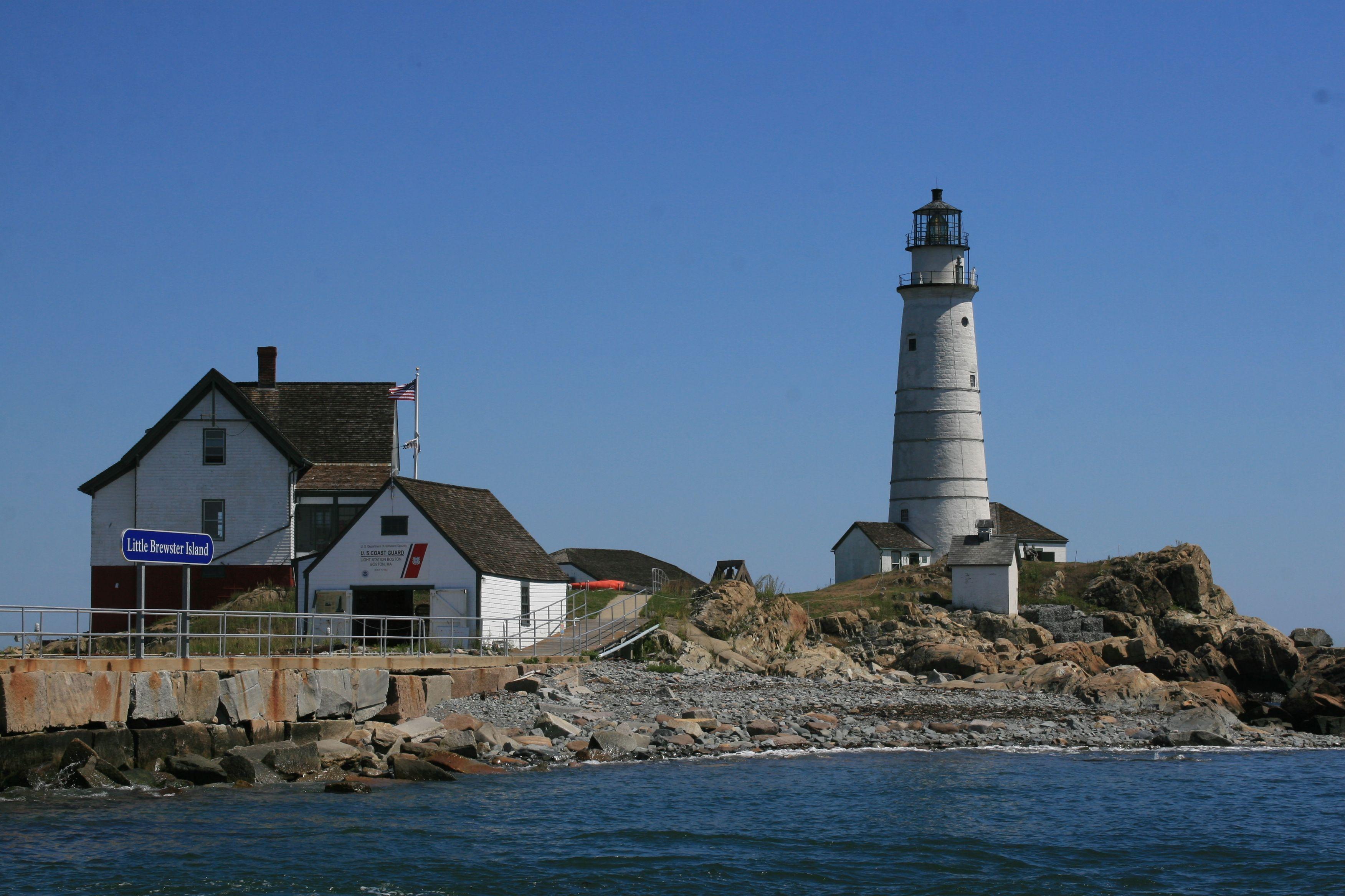 Boston Light Harbor Luminous Lighthouses Pinterest