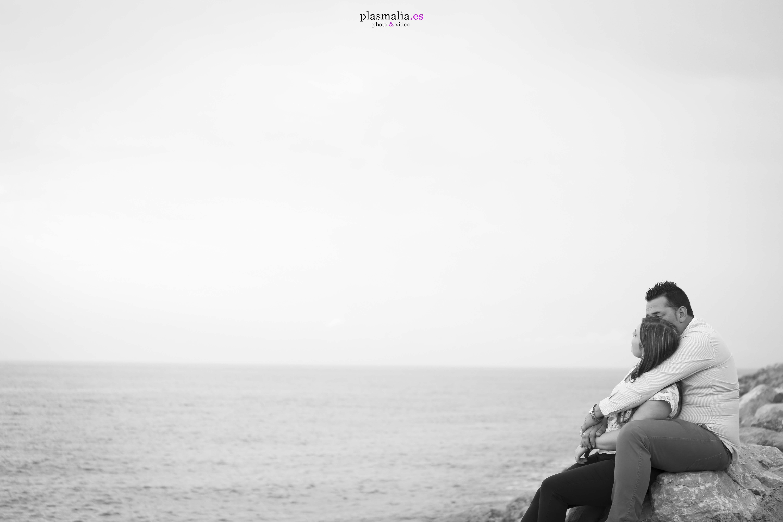 Novios en las playas de Valencia