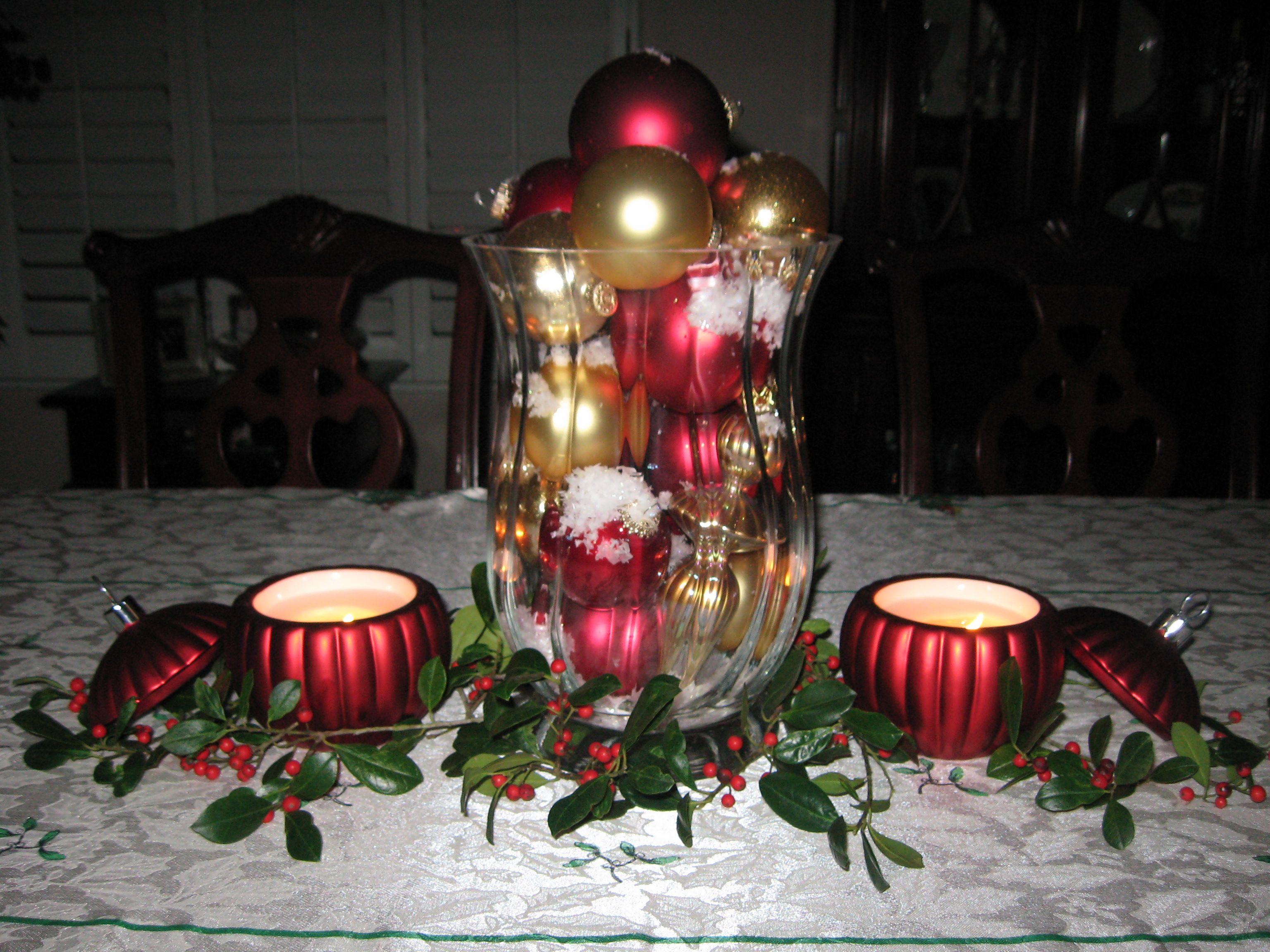 Christmas Table Decoration   Decorations   Pinterest