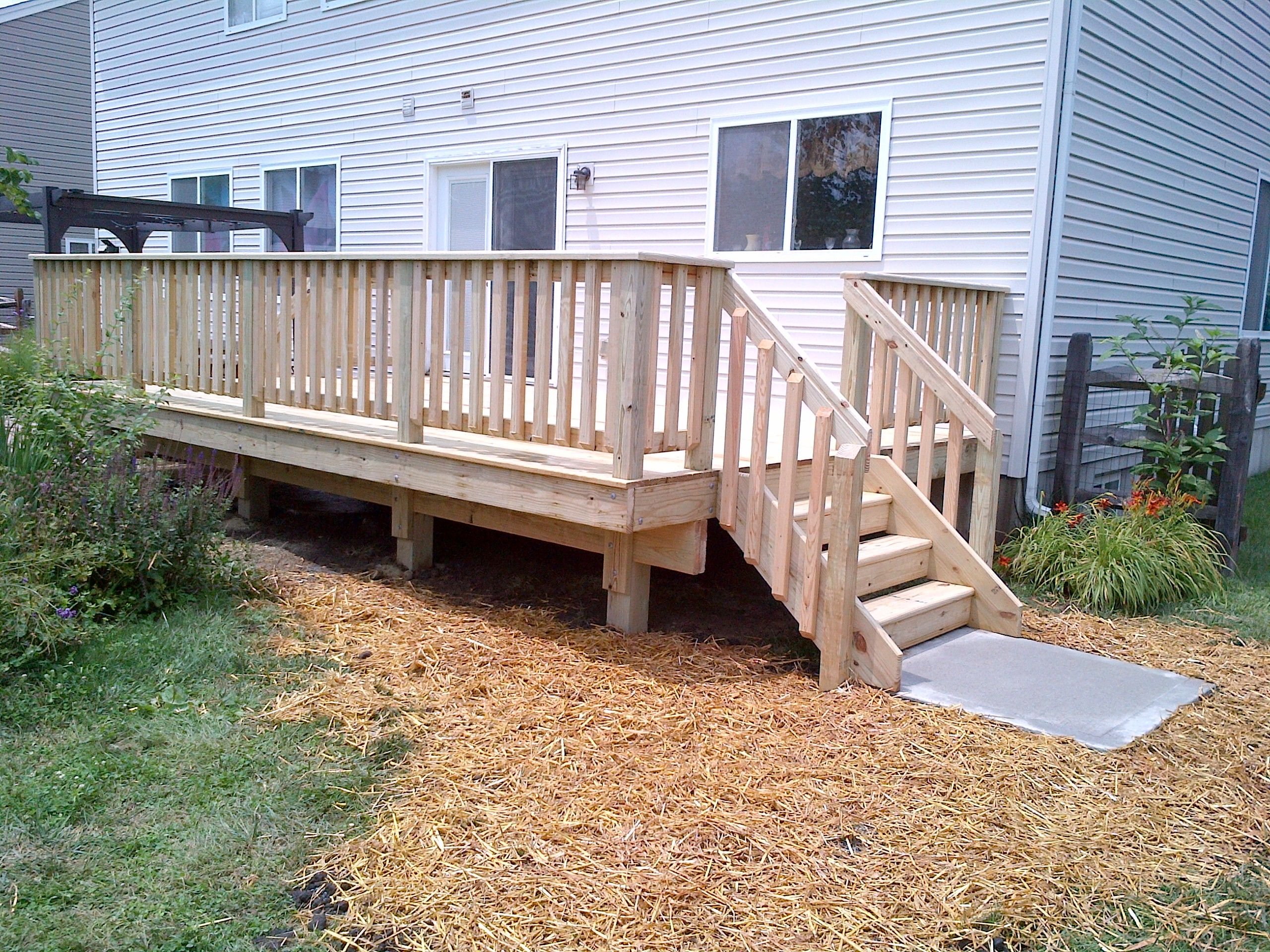 Pressure treated lumber deck dreams pinterest for Pressure treated decking