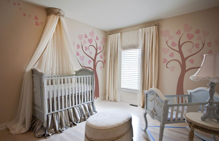 Love the canopy like thing over the crib baby ideas for Canopy above crib
