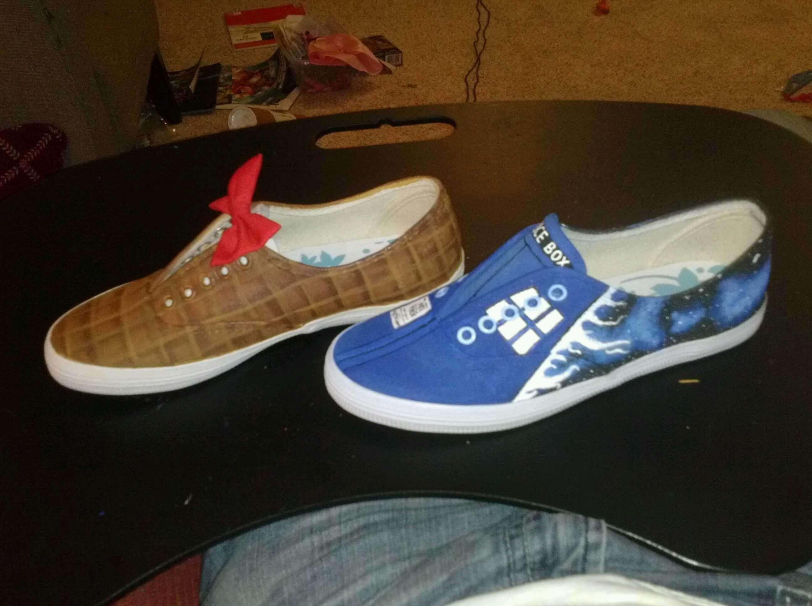 doctor who custom painted tennis shoes projects
