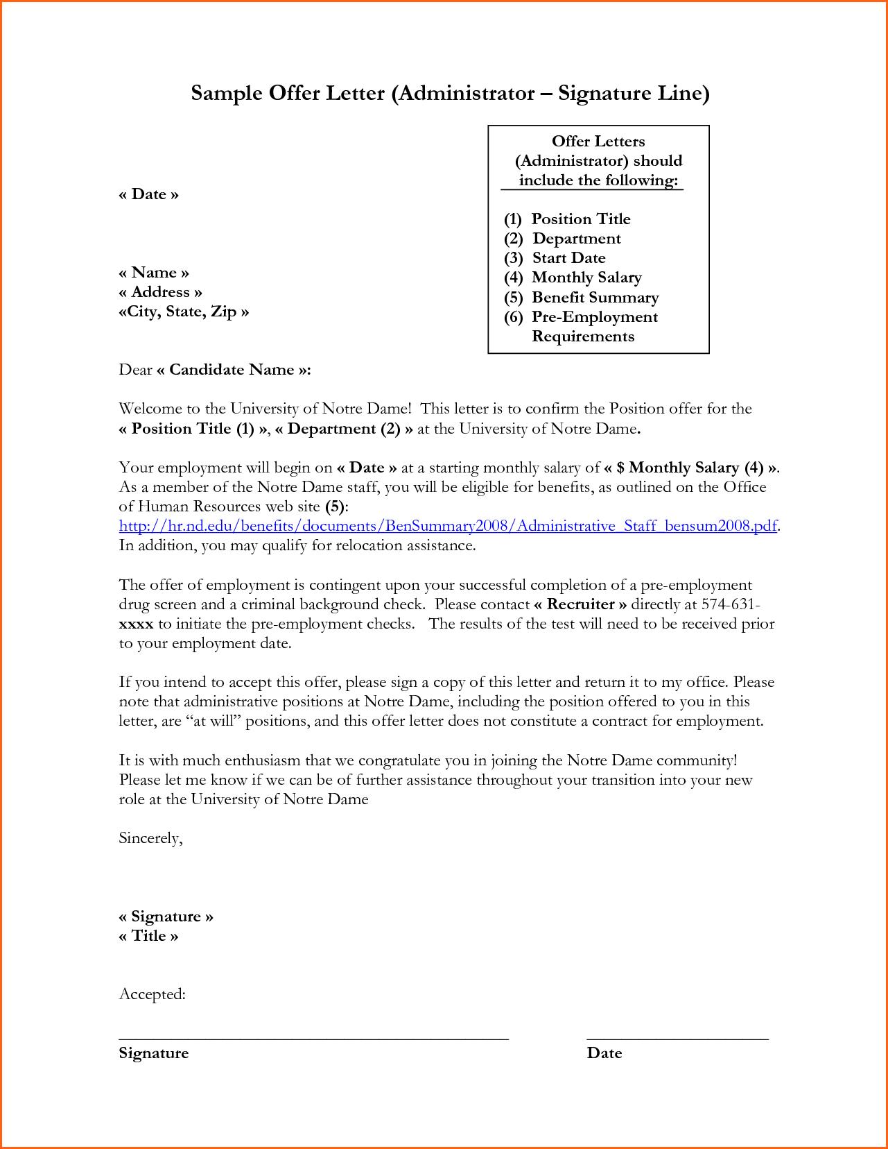Formal Letter Format Ending