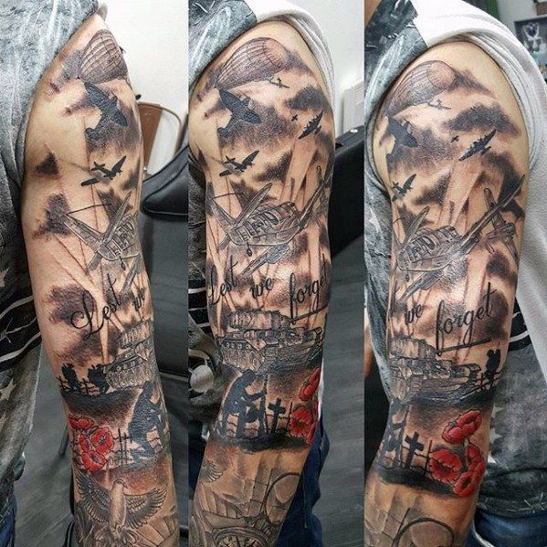60 Tank Tattoos For Men – Armored Vehicle Ink Ideas