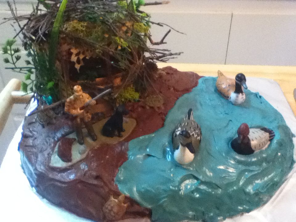 Duck Blind Cake  Food & Drink that I love  Pinterest