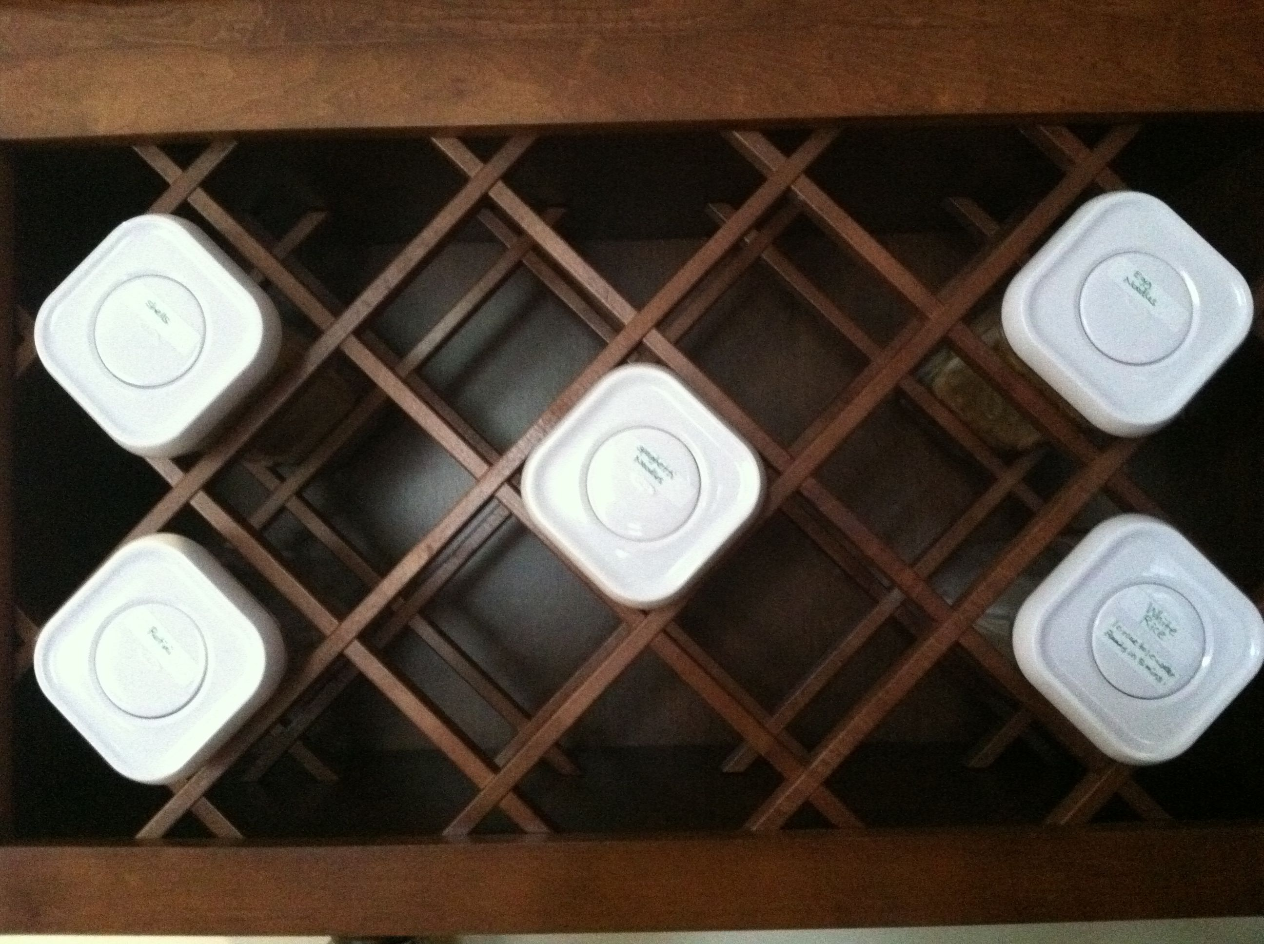 Pin by christi gillum on kitchen inspiration pinterest for Other uses for wine racks in kitchen
