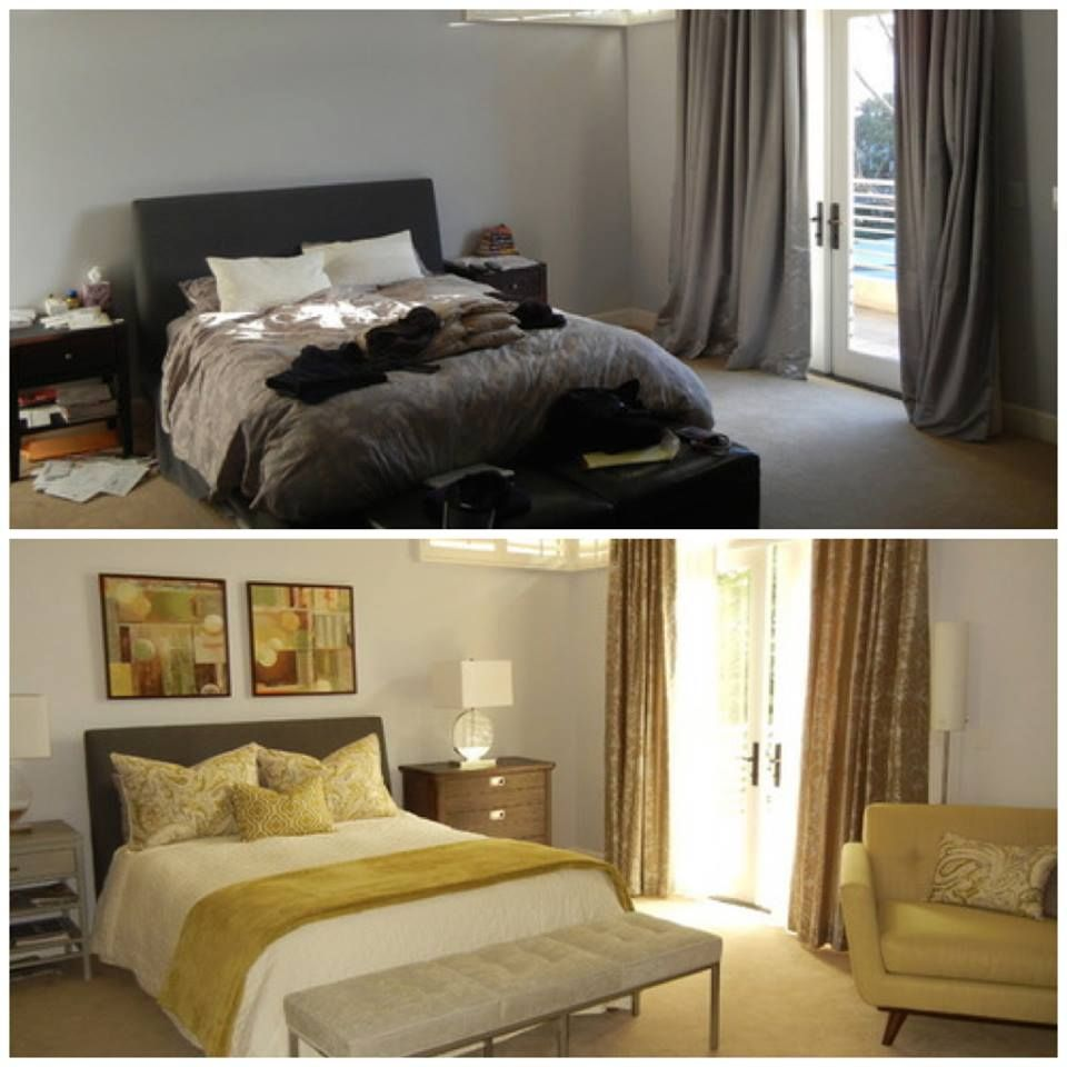 Before and after bedroom redesign renovate create for Redesign bedroom