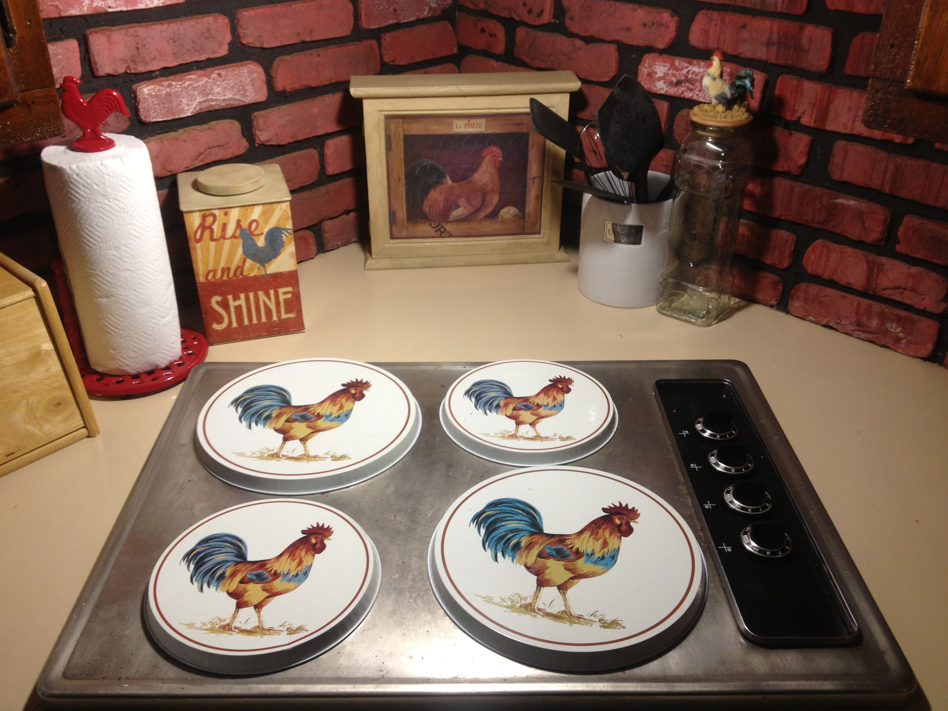 More Rooster Decor In Our Kitchen For The Home Pinterest